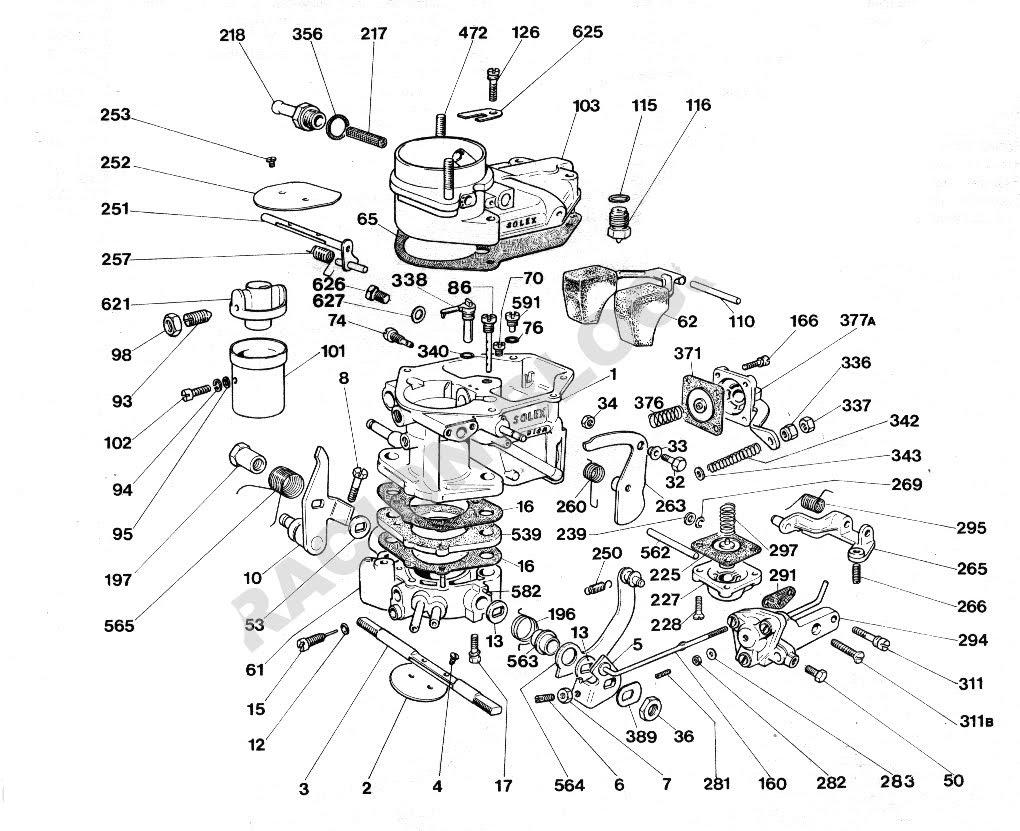 Ajuste de Motor: Despiece Carburador Solex 32 DISA